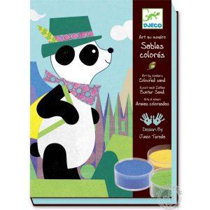 Sables colorés panda et ses copains - Djeco