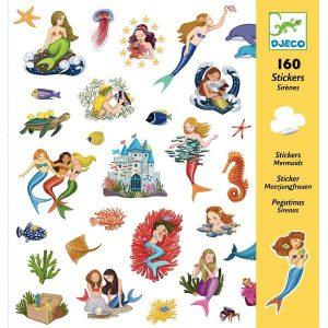 Stickers Les sirènes tortue poisson etoile de mer- Djeco