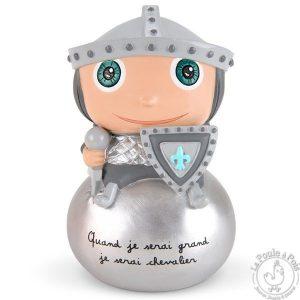 Tirelire chevalier - Quand je serai grande