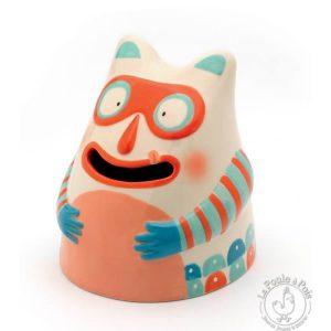 Tirelire en céramique Glouton masqué - Djeco