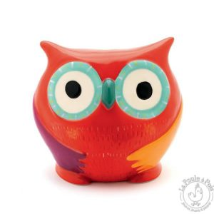 Tirelire en céramique Hibou rouge - Djeco