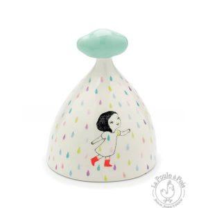Tirelire en céramique pluie colorée - Djeco