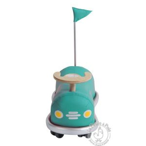 Auto tamponneuse turquoise - Porteur Moulin Roty