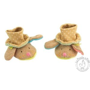 Chaussons naissance chien Les Tartempois - Moulin Roty
