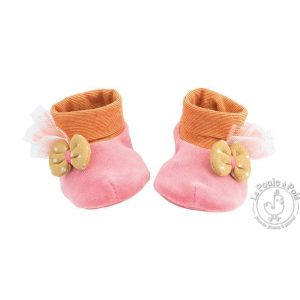 Chaussons naissance rose Les Tartempois - Moulin Roty
