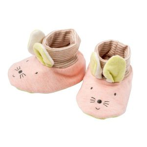 Chaussons naissance souris Les Petits dodos - Moulin Roty