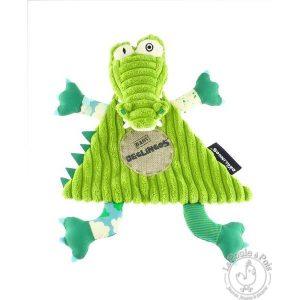 Doudou aligatos l'alligator - Les Déglingos - Doudou vert