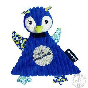 Doudou Frigos le pingouin - Les Déglingos - Doudou bleu bébé