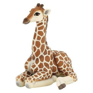 Figurine bébé girafe couché - Papo