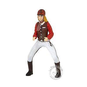 Figurine cavalière fashion rouge - Papo