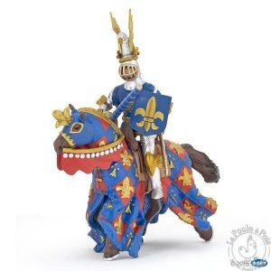 Figurine cheval bleu fleur de lys - Papo