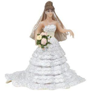 Figurine mariée dentelle blanche - Papo
