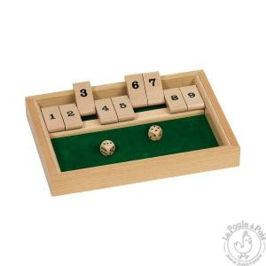 Jeu Shut the box - ferme la boite