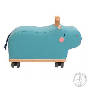 Porteur hippopotame bleu Les papoum - Moulin Roty