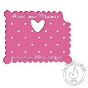 Cadre photo rose Mamie décoration chambre enfant