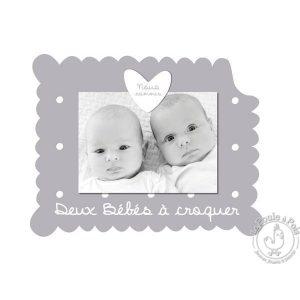 Cadre photo pour jumeaux décoration chambre enfant