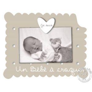 Cadre photo gris pour chambre bébé