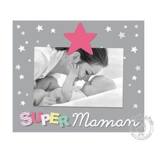 Cadre photo décoratif Maman pour chambre enfant