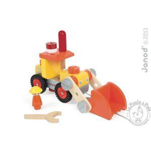 Camion bulldozer Bricolo Jouet enfant bois
