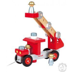Camion de Pompier Bricolo - Jouet bois