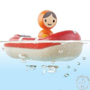 Canot de sauvetage - Jouet de baignoire
