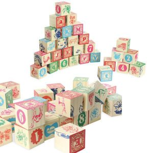 Cubes sérigraphiés en bois - Jouet enfant
