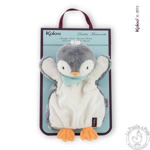 Doudou Marionnette douce Pingouin