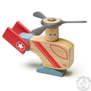 Hélicoptère en bois magnétique - TEGU