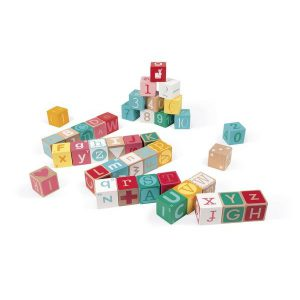 Cubes en bois Lettres et Chiffres - Janod