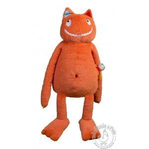 Peluche Ogre Géant orange pour enfant