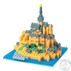 Construction Mont Saint Michel en lego