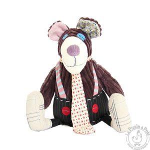 Ours en peluche en velours pour enfant