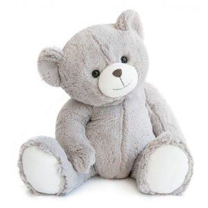 Ours en peluche gris doux pour bébé