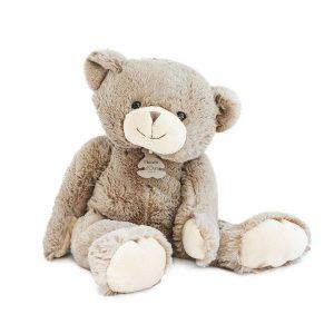 Ours en peluche taupe doux bébé