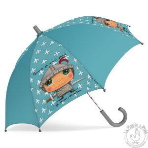 Parapluie garçon bleu chevalier - Quand je serai grand