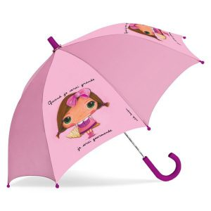 Parapluie fille rose gourmande - Quand je serai grande