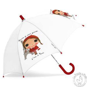 Parapluie blanc Paris fille - Quand je serai grand