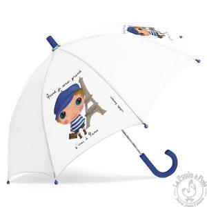 Parapluie blanc Paris garçon - Quand je serai grand