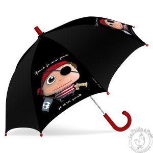 Parapluie noir garçon pirate - Quand je serai grand
