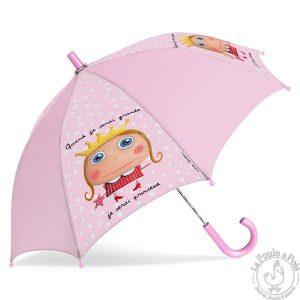 Parapluie fille rose princesse - Quand je serai grande