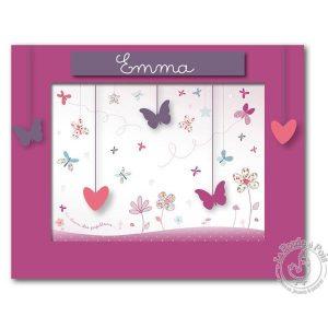 Tableau Pêle-mêle photo fille rose violet