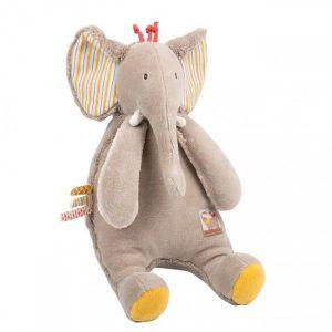 Éléphant en peluche pour bébé