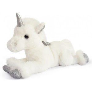 Licorne en peluche blanche pour petite fille