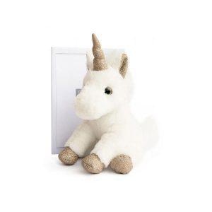 Licorne en peluche blanche douce pour enfant