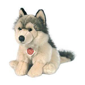 Chien loup en peluche pour enfant
