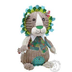 Lion en peluche en velours pour enfant