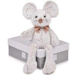 Grande peluche souris grise pour bébé