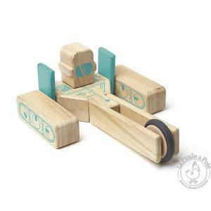 Robot en bois magnétique construction - TEGU