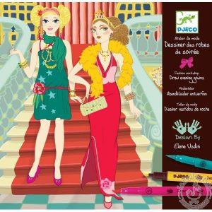 Dessiner et colorier des robes de soirée