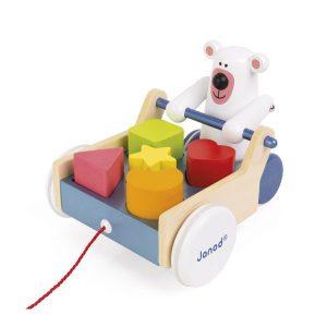 Ours à promener boite à forme jouet éveil
